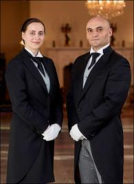 Mr. and Mrs. Cucuian from Romania - Graduates of The International Butler Academy